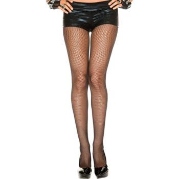 Plus Size Naadloze Visnetpanty - Zwart