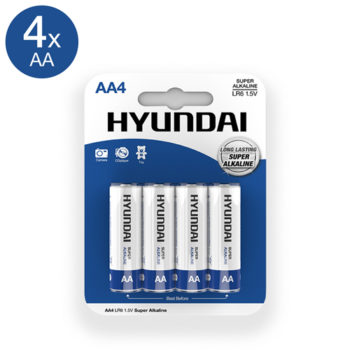 Super Alkaline AA-Batterijen - 4 Stuks